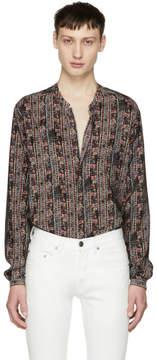 Saint Laurent Multicolor Batik Tunic Shirt