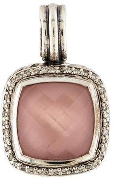 David Yurman Rose Quartz & Diamond Pendant