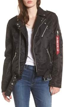 Alpha Industries Outlaw Asymmetrical Biker Jacket