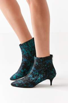 Urban Outfitters Blair Jacquard Kitten Heel Ankle Boot