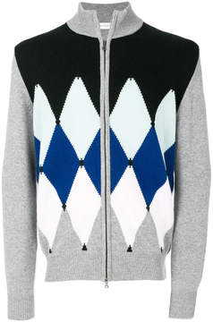 Ballantyne diamond print cardigan