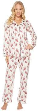 BedHead Long Sleeve Classic Stretch Knit Pajama Set Women's Pajama Sets
