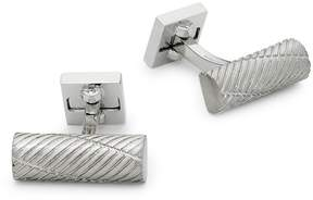 Ike Behar IKE by Men's Silver Textured Cufflinks