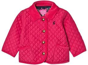 Joules Pink Quilted Barn Jacket