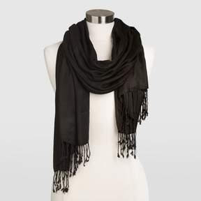 World Market Black Pashmina Style Shawl