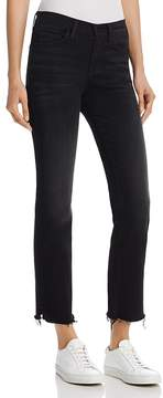 Flying Monkey Raw-Edge Straight-Leg Jeans in Black