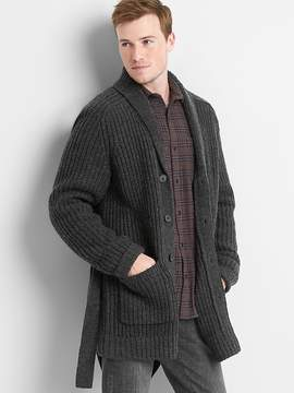 Gap Ribbed wool blend tie-belt cardigan