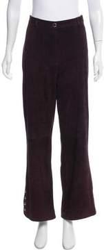 St. John High-Rise Suede Pants