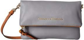 Dooney & Bourke City Foldover Zip Crossbody Cross Body Handbags - BLUSH W/ TAN TRIM - STYLE