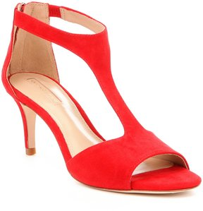Antonio Melani Daphnee Suede T-Strap Dress Sandals