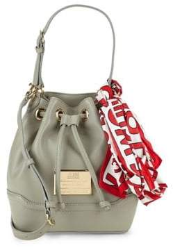 Love Moschino Scarf Faux Leather Bucket Bag