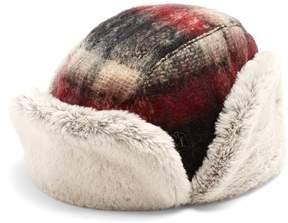 Maison Michel Sofia wool and faux-fur hat