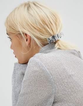 Asos Crushed Metal Barrette Hair Clip