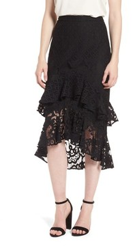 Chelsea28 Women's Tiered Lace Midi Skirt
