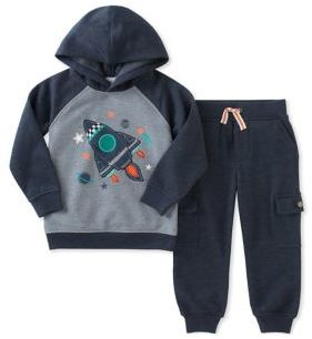 Kids Headquarters Baby Boy's Two-Piece Spaceship Hoodie and Jogger Pants Set