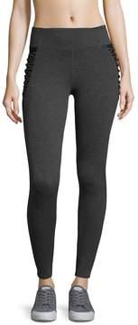 Betsey Johnson Women's Criss-Cross Solid Leggings