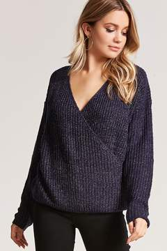 Forever 21 Surplice Purl Knit Sweater
