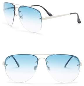 Quay 55mm Muse Fade Fashion Sunglasses
