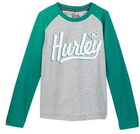 Hurley Athletic Raglan Tee (Big Boys)