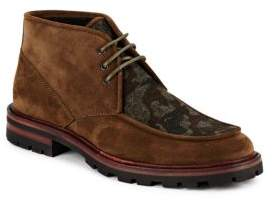 Aquatalia Waxed Suede Lace-Up Boots