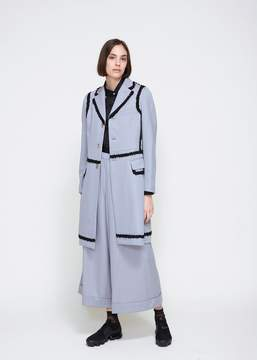 Comme des Garcons Ruffle Piping Overcoat