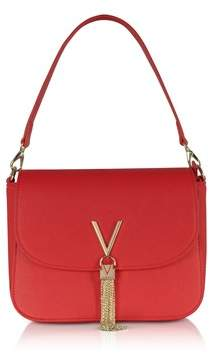 Mario Valentino Valentino By Women's Red Faux Leather Shoulder Bag