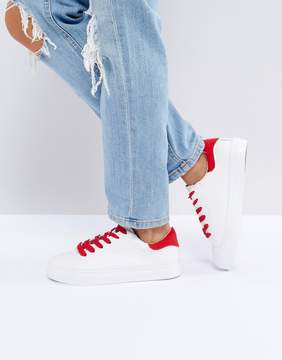 New Look Contrast Lace Sneaker
