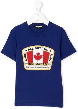 DSQUARED2 Canadian Flag patch T-shirt