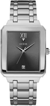 GUESS Men's Diamond Accent Stainless Steel Bracelet Watch 35mm U0917G2