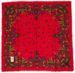 One Kings Lane Vintage Yves Saint Laurent Wool Paisley Scarf - Vintage Lux