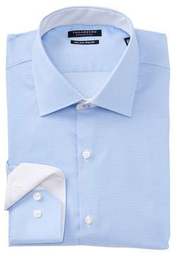 Tailorbyrd Polka Dot Trim Fit Dress Shirt