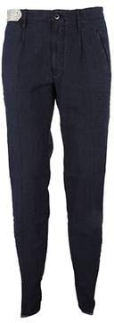 Incotex Men's 1st68690776820 Blue Cotton Pants.
