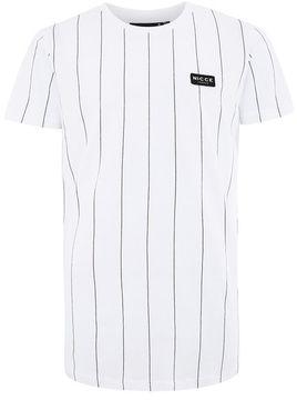 Nicce White Stripe T-Shirt