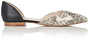 Barneys New York WOMEN'S CYNTHIA LEATHER D'ORSAY FLATS