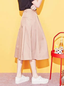 Blank Maxi Flared Skirt-Be