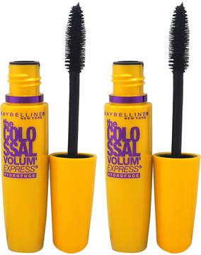Maybelline Classic Black The Colossal Waterproof Mascara - Set of Two