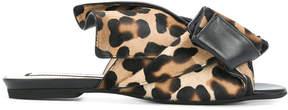 No.21 leopard print mules