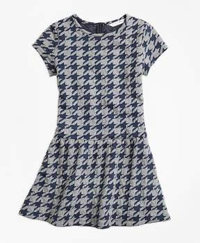 Brooks Brothers Jacquard Houndstooth Dress