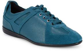 Versace Men's Lace-Up Leather Sneakers