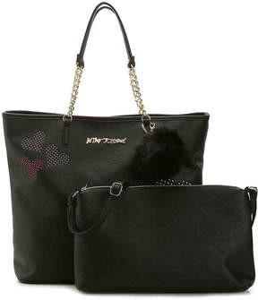 Betsey Johnson Studded Heart Tote - Women's