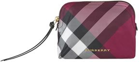 Burberry Check Pouch - PURPLE - STYLE