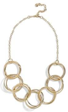 BaubleBar Romina Circle Link Statement Necklace