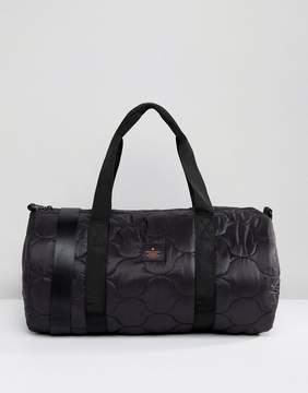 Asos Barrel Bag In Black Quilt