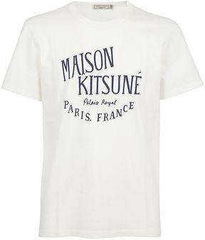 Kitsune Maison Logo Print T-shirt