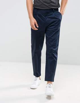 Kiomi Pleat Front Chinos In Navy