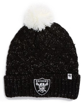 '47 Women's Fiona Oakland Raiders Pom Beanie - Black