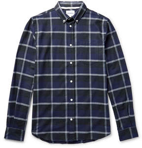 Norse Projects Anton Button-Down Collar Checked Cotton-Flannel Shirt
