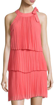 Cynthia Steffe Eloise Tiered Pleated Dress, Pink