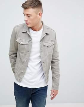 New Look Denim Jacket In Stone