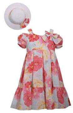 Iris & Ivy Little Girl's Two-Piece Floral Dress and Hat Set